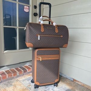 MK trolly luggage and duffle carry on bag